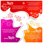 Christmas bubbles for speech — Stock Vector