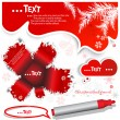 Red  bubble for speech - Stok Vektör