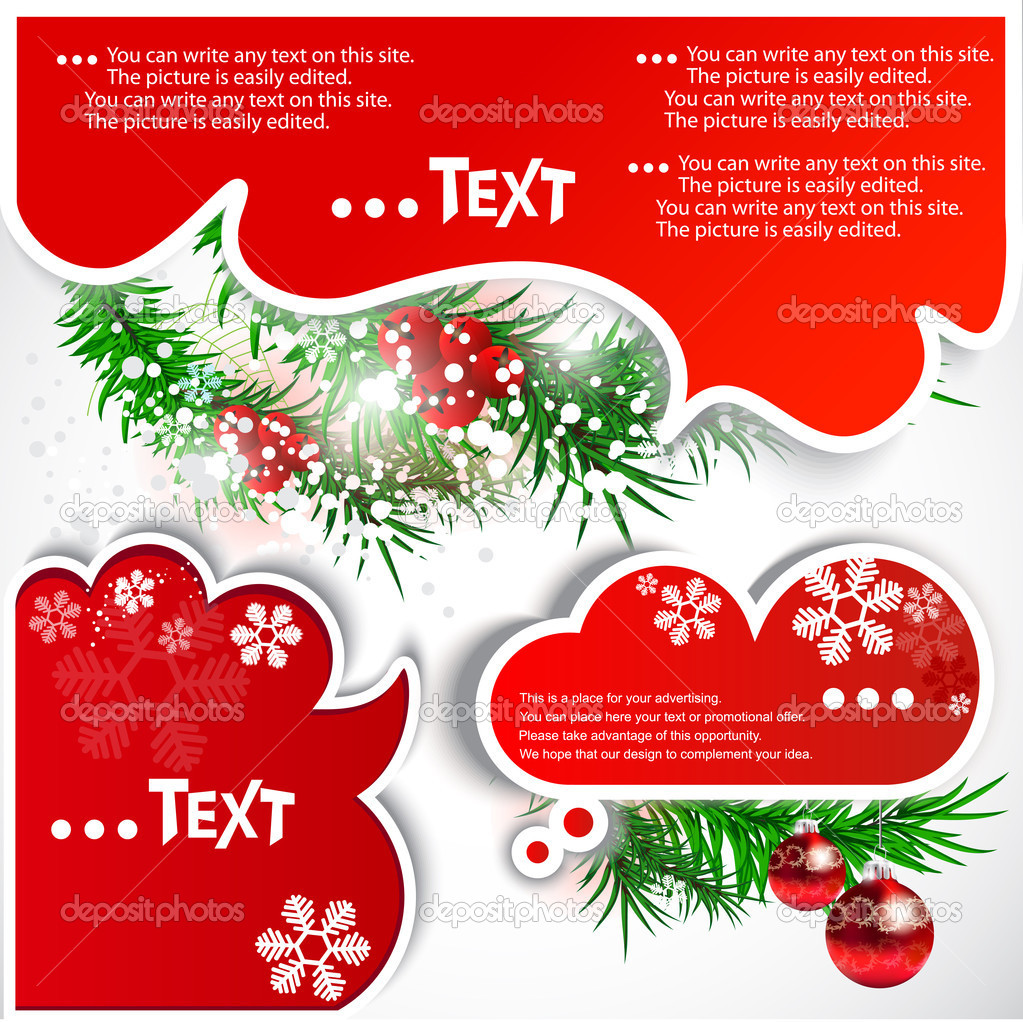 Christmas bubbles for speech — Stock Vector #6948783
