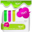 Colorful bookmarks for speech - Imagen vectorial