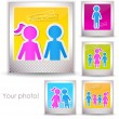 Colorful family photo - Imagen vectorial
