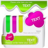 Signets colorés pour discours — Vecteur