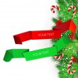 Royalty-Free Stock Imagen vectorial: Origami paper banners. Christmas design