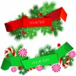 Royalty-Free Stock Imagem Vetorial: Vector set of origami paper banners. Christmas design