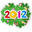 Happy new year 2012. Vector design element. — Stock Vector #7145910