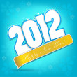 Royalty-Free Stock Vector Image: Happy new year 2012. Vector design element.