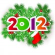 Happy new year 2012. Vector design element. — Vettoriale Stock