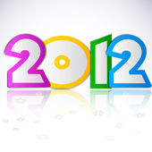 Happy new year 2012. Vector design element. — Stockvektor