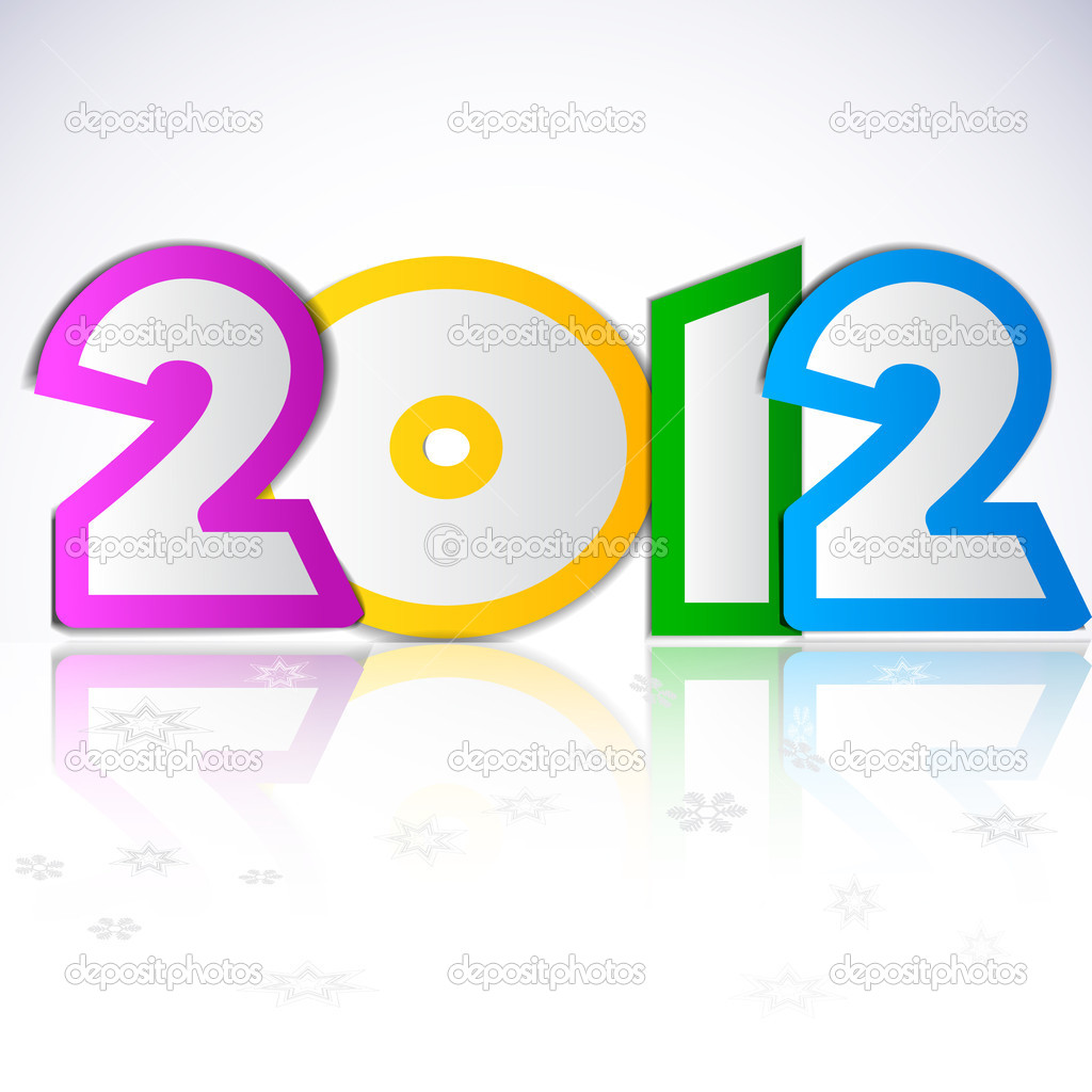 Happy new year 2012. Vector design element.  — Stock Vector #7145933