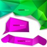 Abstract origami paper banner. Website element — Stock Vector