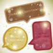 Colorful bubbles for speech. Christmas design — Stockvektor