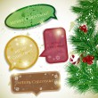 Royalty-Free Stock Vector Image: Colorful bubbles for speech. Christmas design