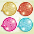 Colorful bubbles for speech. Christmas design — Stock Vector