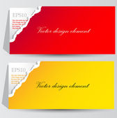 Colorful paper banners for text — Stok Vektör