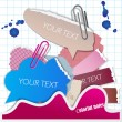 Colorful bubbles for speech - Stockvektor