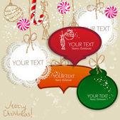 Красочные записочки с пространства для текста. Рождественский дизайн — Cтоковый вектор