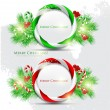 Abstract glossy speech bubble with Christmas candy. Vector backg — Stock Vector