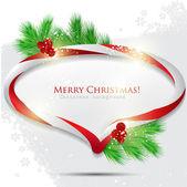 Resumen la burbuja brillante discurso con dulces de navidad. backg vector — Vector de stock