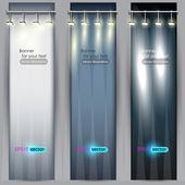 Cartel vacía para hacer publicidad de productos con iluminación — Vector de stock