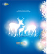 Elegant Christmas background with deers. Vector Illustration wit — Stock Vector
