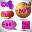 Christmas Sale. Glossy bubbles for speech — Stock Vector