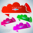 Colorful bubble for speech — Imagen vectorial
