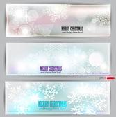 Set of elegant winter banners. Vector illustration — Stock Vector