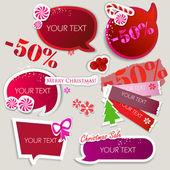 语音的纸泡沫。圣诞销售 — 图库矢量图片