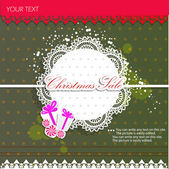 Paper bubbles for speech. Christmas Sale — Stock Vector