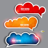 Set of winter bubbles, stickers, labels, tags. Vector illustrati — Stock Vector