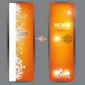 Elegant Christmas banners with deers. Vector Illustration with p — Stock Vector