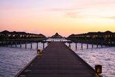 Tropical paradise sunset — Stock Photo