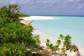 Tropical beach. Indian ocean — Stock Photo