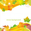 Background with autumn leaves — Stock Vector #6846156