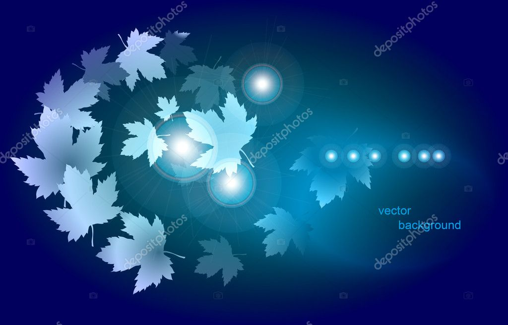 Vector drawing with autumn leaves       — Stock Vector #6846148