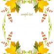 Royalty-Free Stock Vector Image: Framework with a pattern from autumn leaves and berries