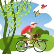 Bike tours - Stock Vector