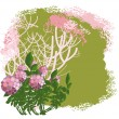 Flowering bush — Stock Vector