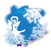 рождественский ангел — Cтоковый вектор