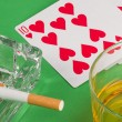 Gambling still life — Stock Photo
