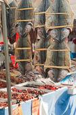 Fish on street market — Stock Photo
