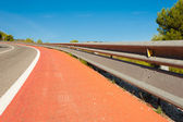 Double crash barrier — Stock Photo