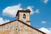 Medieval church pediment — Stock Photo