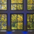 Window with Autumn View — Stock Photo