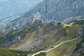 Wanderweg durch die deutschen Alpen — Stockfoto