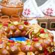 Traditional moldavian round loaf - Foto Stock