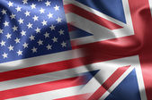 Usa an UK flags — Stock Photo