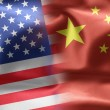 Flags of the United States and the China. — Stockfoto