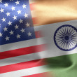 Flags of the United States and the India. — Foto de Stock