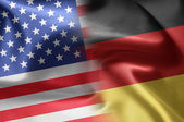 Flags of the United States and the Germany. — Stock Photo
